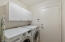 Cabinets above washer