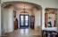 CUSTOM DOUBLE IRON DOOR AT MAIN ENTRY