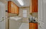 Large utility with built-in cabinets