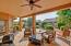 Large, covererd flagstone patio