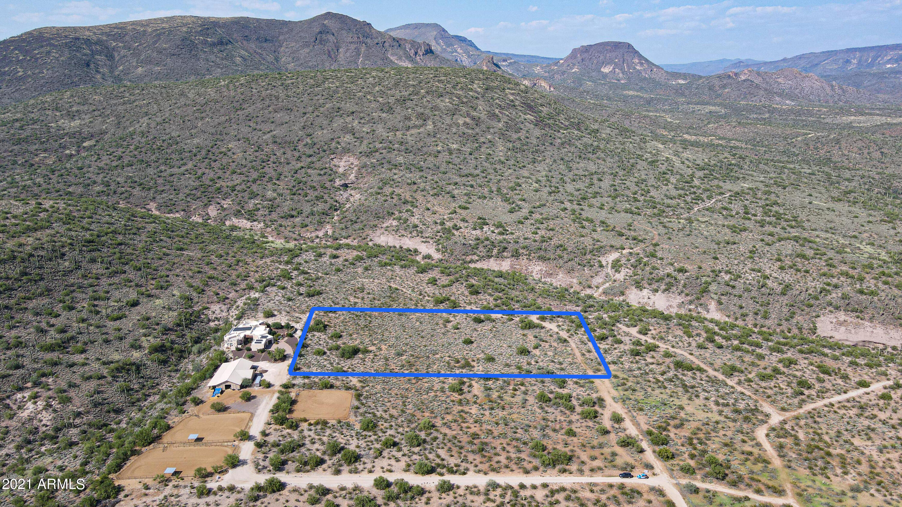 4.42 acres staked by Surveyor