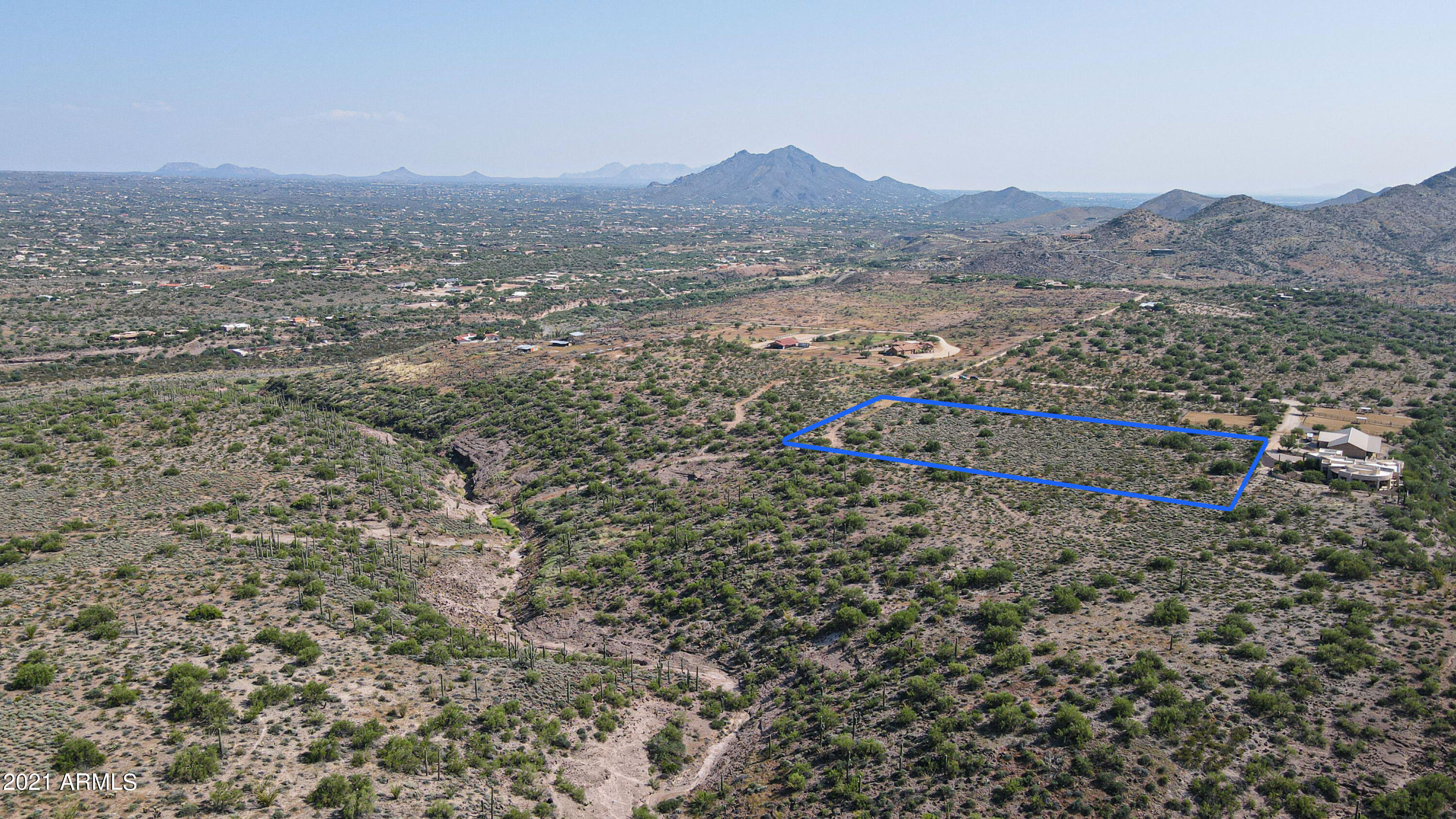 Looking down upon Cave Creek Township