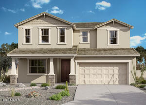 Willowleaf Craftsman Exterior Rendering (color scheme may vary)