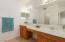 2 sinks with built-in vanity