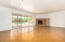 Concrete flooring in Living Room, hall and bedrooms.