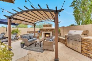 Backyard Fireplace/BBQ