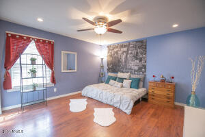 Master bedroom with fan to keep you cool
