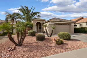 This lovely 1441sf home is located in the guard-gated 55+ resort community of Arizona Traditions.