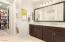 Owners Suite En Suite Bathroom, Dual Sinks, Framed Mirror, Soaking Tub, Separate Shower, Separate Toilet Room