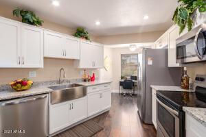 Updated Kitchen with farm sink and kitchen nook