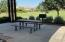 Picnic table and BBQ with room for the kids to run