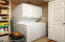 The washer/dryer will convey (gas dryer). Great storage here too.