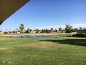 Looking to the East at shimmering Lake & Pines Golf course at McCormick Ranch Golf Club.