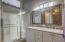 Owners bathroom dual sinks