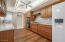 Ceiling fan in kitchen so you can keep cool while cooking in the summer time
