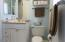 Both bathrooms have updated vanities and toilets!