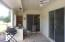 Large covered back patio with built-in counters!