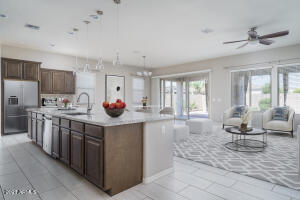 Great room with virtual staging