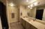 Full bath in lower level.