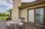 Private Deck off Main Master Retreat, overlooking pool area as well as irrigated pasture.