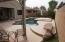 Heated Pool & Spa in backyard.