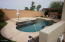 Heated pool & hot tub. Look to the right of photo to see pergola & eating area.