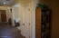 Entry Hall is open and roomy. Note that the door is to the storage on main floor.