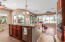 Huge island measures 5'x7' and offers plenty of space for cooking and entertaining.