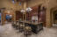 Formal dining just beyond the kitchen that sits at least 5!