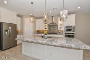 Amazing Gourmet kitchen with a huge island to entertain