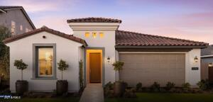 Spanish elevation and easy care front landscaping.