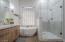 Walk in Shower w/ Dolamite Tile
