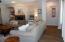 Living room leading to master bedroom split entry