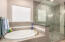Nice large and deep soaking tub for those times you just need to relax.