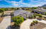 Beautiful Ariel view of the front and side driveway. San Tan Mountains off to the right or south.