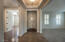 Front Entryway with Travertine
