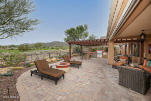 Entertaining Backyard with Golf Course and Mountain Views