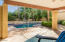 Private Patio view of your private pool and spa