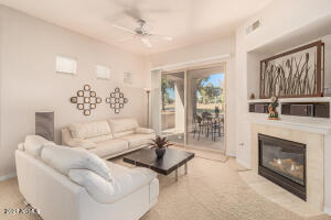 Enjoy the cool Scottsdale weather relaxing by the warmth of your fireplace.