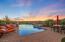 Pool & Mountain Views (Twilight)