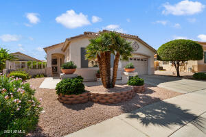 This lovely 1708sf Coronado model is located on a N/S facing lot in the guard-gated 55+ Arizona Traditions!