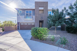 Come and see this modern 4 bed, 3 bath residence now on the market! Located on a premium corner lot and featuring great curb appeal w/easy-care landscape and a 2 car garage! Inside you will find an open floor plan w/carpet in all the right places and neutral palette throughout. The elegant eat-in kitchen is comprised of ample cabinetry w/granite counters a pantry, recessed lighting, and an island w/farmhouse sink & breakfast bar. Cozy bonus/game room perfect for entertaining! The large main suite features a walk-in closet and private bath w/2 sinks & designer touches. The backyard, with its covered patio and convenient storage shed, is a blank canvas with tons of potential to get creative! Don't let this incredible opportunity slip by, book a showing today!