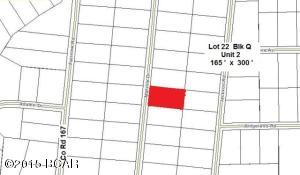 Plat Map showing Lot 22 Block Q Highlighted in Red