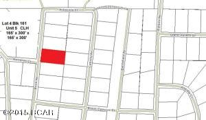 Plat showing Lot 4 Blk 161 highlighted in Red