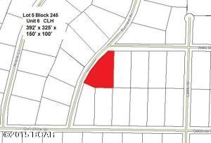 Plat showing Lot 5 Block 245 highlighted in Red