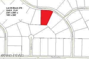 Plat Map showing Lot 36 Block 276 Highlighted in Red