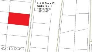 Plat showing Lot 11 highlighted in Red