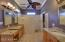 BEAUTIFUL MASTER BATH with LARGE SHOWER; separate double vanities