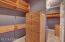 ADDITIONAL MASTER CLOSET with BUILT IN SHELVING
