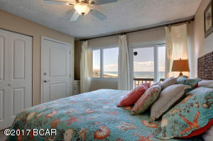 master bedroom gulf views and large owners closet